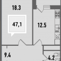 1-комнатная квартира, УЛ. ДАЛЬНЯЯ, 8