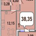 1-комнатная квартира, УЛ. СОЛНЕЧНАЯ, 12А