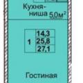 1-комнатная квартира, ПР-КТ. ХИМИКОВ