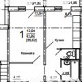 1-комнатная квартира, УЛ. КОСАРЕВА, 43