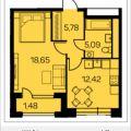 1-комнатная квартира, Новочеремушкинская