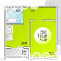 1-комнатная квартира, УЛ. БЕРЕГОВАЯ, 2