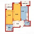 2-комнатная квартира, УЛ. ГВАРДЕЙСКАЯ, 54