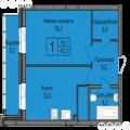 1-комнатная квартира,  ул. Мясниковой, 30