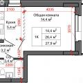 1-комнатная квартира, УЛ. ЧЕРНЫШЕВСКОГО, 186