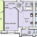 1-комнатная квартира, Дубравная 2д