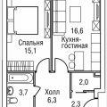 2-комнатная квартира, ПРОЕЗД. 3-Й СИЛИКАТНЫЙ