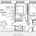 3-комнатная квартира, 3-й Силикатный проезд