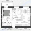 2-комнатная квартира, ЖИЛОЙ КОМПЛЕКС ЮЖНЫЙ ГОРОД, ПОДСТЕПНОВСКАЯ