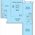 3-комнатная квартира, Садовая