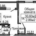 1-комнатная квартира, ПР-КТ. КОРАБЛЕСТРОИТЕЛЕЙ