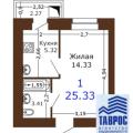 1-комнатная квартира, УЛ. СЕМЧИНСКАЯ, 11 К2