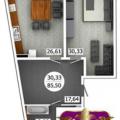 1-комнатная квартира, УЛ. АЭРОФЛОТСКАЯ, 5