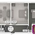 2-комнатная квартира, ул. Аэрофлотская