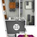 3-комнатная квартира, ул. Аэрофлотская