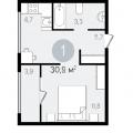 1-комнатная квартира, ВИДНОЕ, УЛ ЕРМОЛИНСКАЯ 2 КОР.1