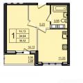 1-комнатная квартира, УЛ. САДОВАЯ, 1