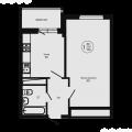 1-комнатная квартира,  ул. Гаражная, 87к2
