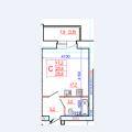 1-комнатная квартира, ул Монтклер 3А