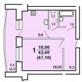 1-комнатная квартира, ЧЕРЕПОВЕЦ, ПР-Т ПОБЕДЫ 182А
