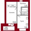1-комнатная квартира, ЧЕРЕПОВЕЦ, УЛ. МОНТ-КЛЕР 7