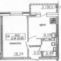 1-комнатная квартира, ул. Монт-клер 13
