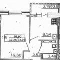 1-комнатная квартира, ЧЕРЕПОВЕЦ, УЛ. МОНТ-КЛЕР 13