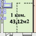 1-комнатная квартира, ПР-КТ. КОМАРОВА, 13 К1