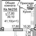 1-комнатная квартира, УЛ. 2-Я ВОЛОДАРСКОГО, 178