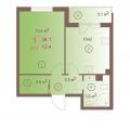 1-комнатная квартира, ЖК ШОКОЛАД, 2