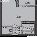 1-комнатная квартира, УЛ. ТАМАНСКАЯ, 1