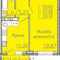 1-комнатная квартира,  ул. им Валерия Гассия, 2