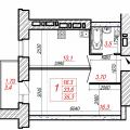 1-комнатная квартира, ЧЕРЕПОВЕЦ, УЛ. ПЕРВОМАЙСКАЯ 2А