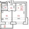 1-комнатная квартира, ул. Раахе 68