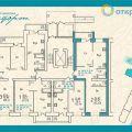 1-комнатная квартира, Локомотивный переулок 2