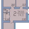 2-комнатная квартира, Независимости 55л
