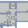 3-комнатная квартира, ВОРОНЕЖ, НЕЗАВИСИМОСТИ 55Л