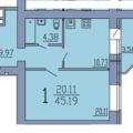 1-комнатная квартира, ВОРОНЕЖ, НЕЗАВИСИМОСТИ 55Л