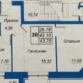 1-комнатная квартира, УЛ. МОЛОДЕЖНАЯ