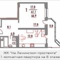 1-комнатная квартира, ПР-КТ. ЛЕНИНСКИЙ