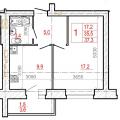 1-комнатная квартира, ЧЕРЕПОВЕЦ, УЛ. РААХЕ 68