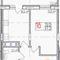 1-комнатная квартира, УЛ. ДОБРОСЕЛЬСКАЯ, 186А