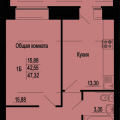 1-комнатная квартира,  ул. Ново-Казанская, 7а