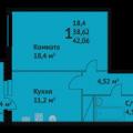 1-комнатная квартира, УЛ. МЕРВИНСКАЯ, 200