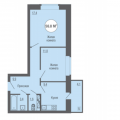 2-комнатная квартира, Ш. ЕЛЕЦКОЕ, 7А