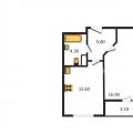 1-комнатная квартира, ПР-КТ. МАРШАЛА БЛЮХЕРА, 4 К1