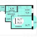 1-комнатная квартира, УЛ. БЕЛОВЕЖСКАЯ, 9К2